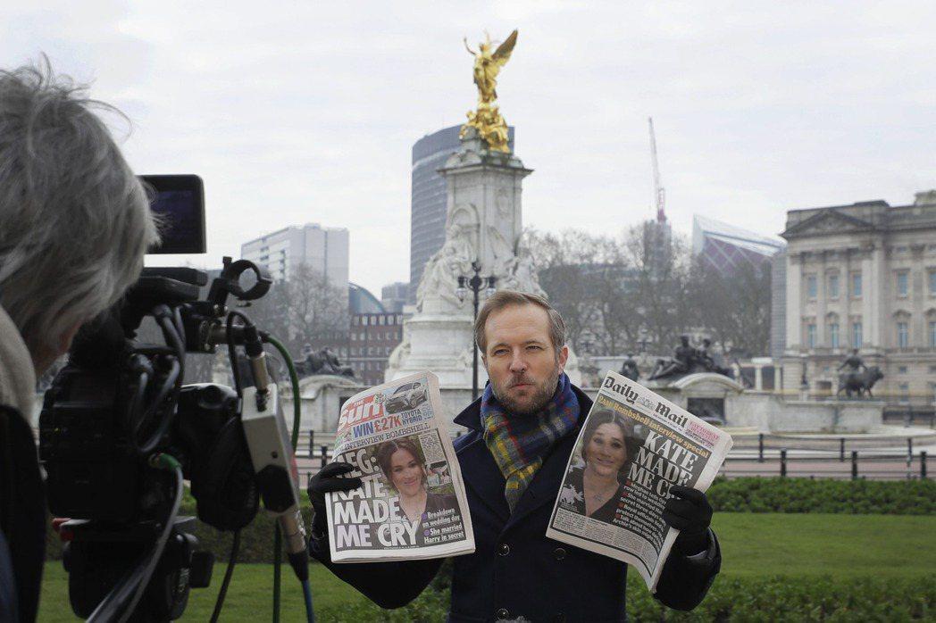 哈利與梅根接受歐普拉專訪的節目播出後,立刻受到媒體大力關注。 圖/美聯社