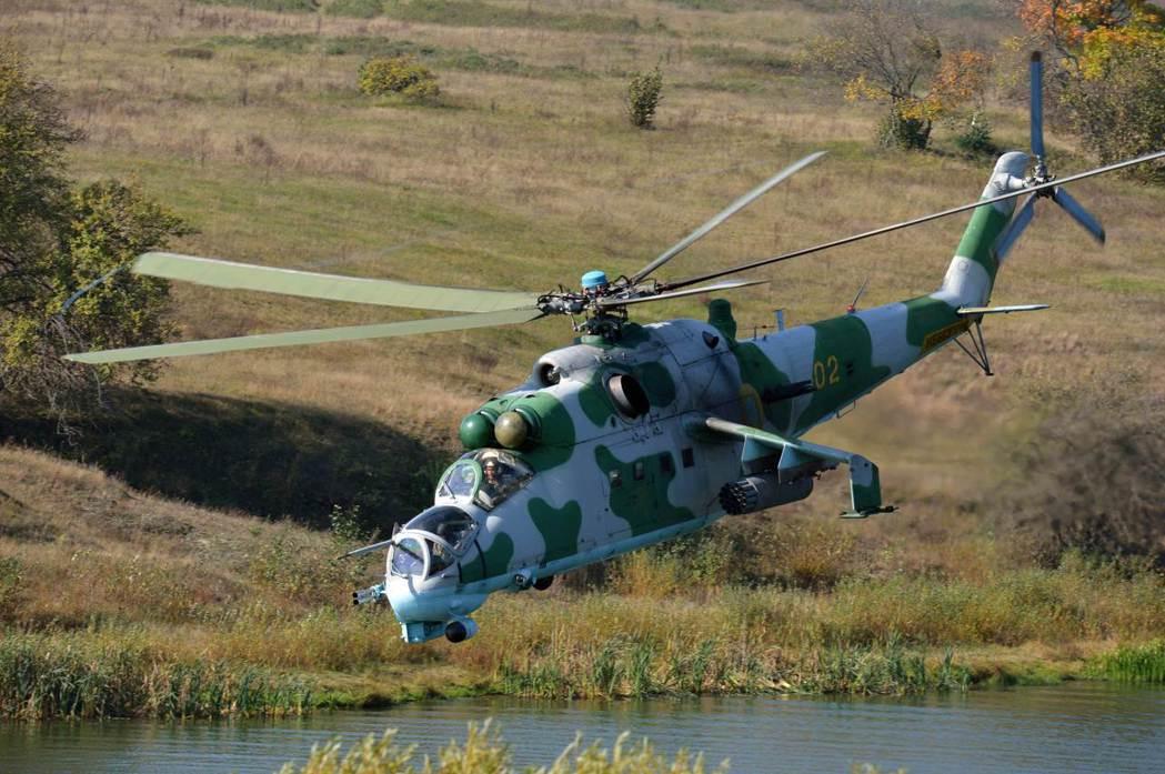 圖為mi-24雌鹿直升機。 圖/法新社