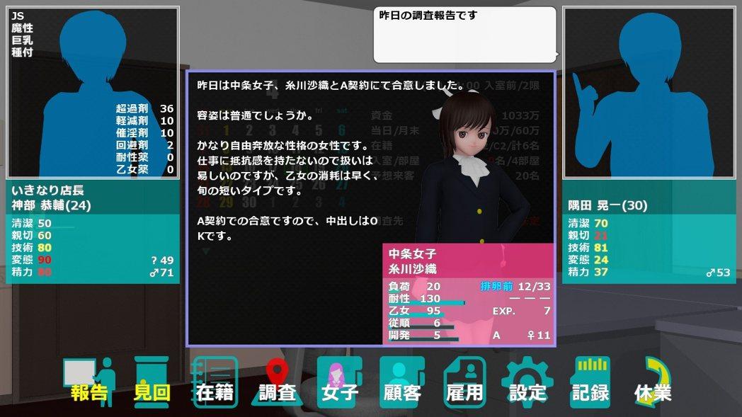 玩家想要招收新的女孩必須要經歷調查、發掘以及說服的過程,而如果玩家在女孩間的評價...