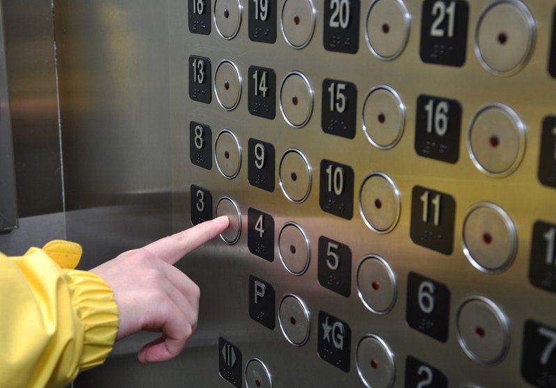 一名女網友日前下班搭電梯時,竟遇到多次門開啟後沒有人的情況,甚至還發出超重警示音,嚇得她奔出電梯。 圖/ingimage