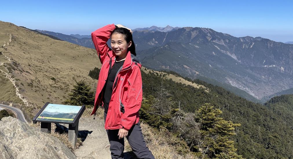 合歡群峰是許多百岳新手最愛,有點喘,但還是能順利攻頂。