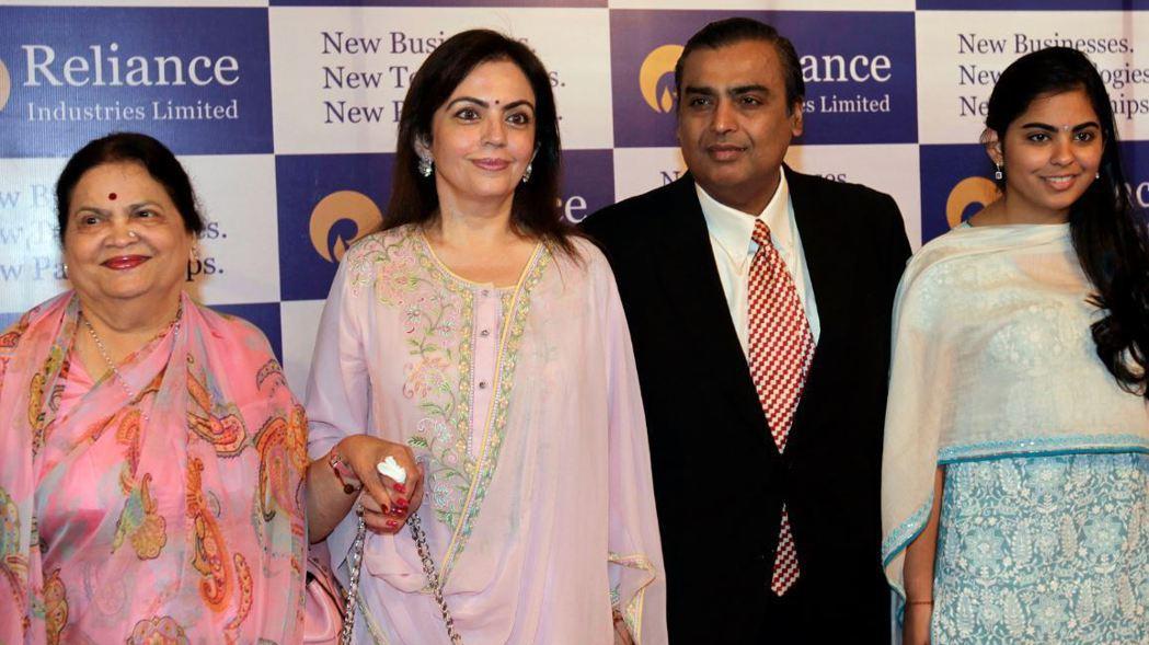 安巴尼家族打造了印度最大民營企業信實集團。美聯社