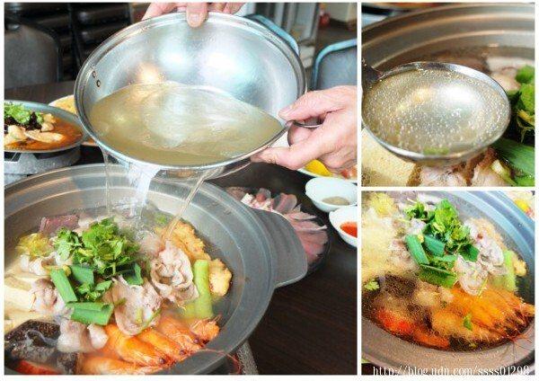 酸白菜湯其實是會加滿的,因為老闆娘知道我們要拍照,所以一開始湯先裝一半而已,任何海鮮、蔬菜及肉片在這鍋酸白菜湯頭中烹煮過,增添不少風味耶!