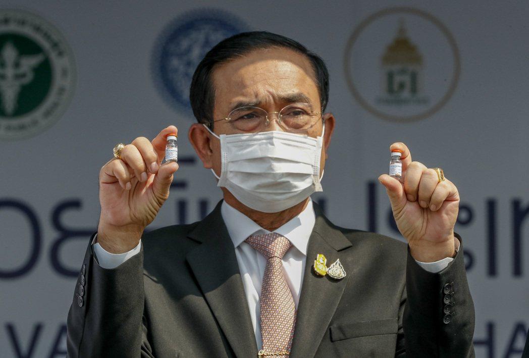 泰國總理帕拉育原訂今天接種AZ疫苗。美聯社