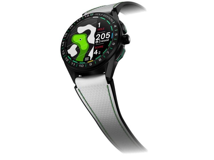 泰格豪雅Connected高爾夫球特別版智能腕表,鈦金屬表殼84,100元。圖/...