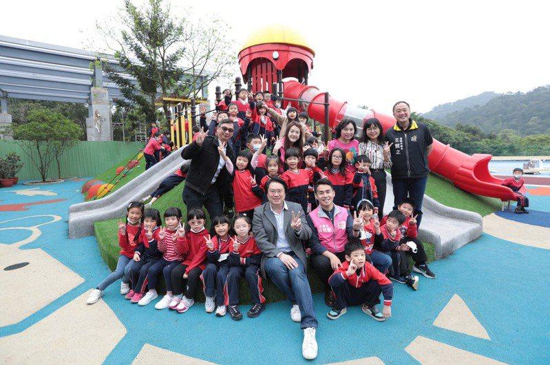基隆軟絲樂園今啟用小朋友好樂,打造主題式夢幻遊樂園。圖/基隆市政府提供