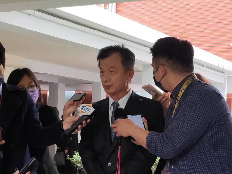 陸委會主委邱太三(中)。聯合報系記者徐偉真/攝影