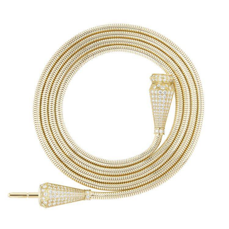 Boucheron Jack系列項鍊,黃金、鑲嵌462顆圓鑽約12.23克拉,2...