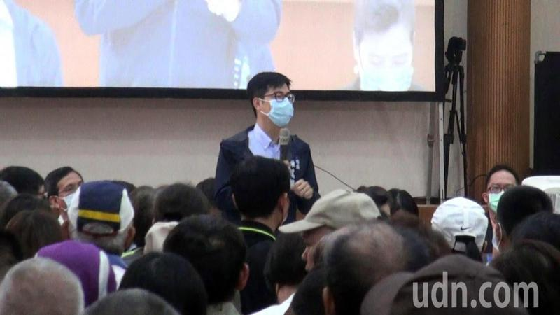 大林蒲遷村安置首長說明會今早舉行,市長陳其邁親上火線逐一回應。記者王昭月/攝影