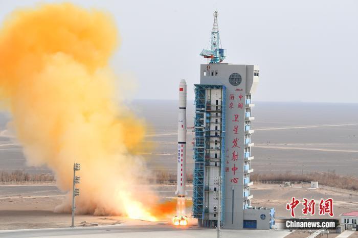 大陸13日成功發射遙感三十一號04組衛星。(圖/取自中新網)