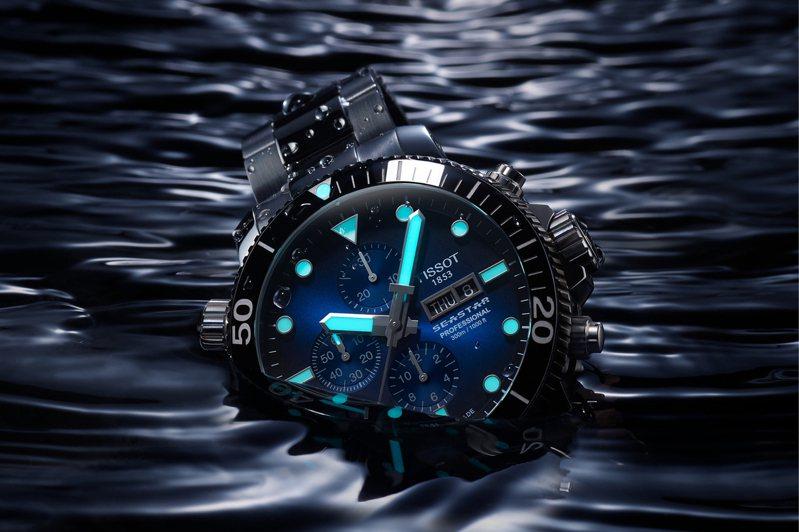 表迷的引頸期盼下,天梭表的Seastar 1000系列專業版計時碼表,終於正式登台開賣了!圖/TISSOT提供