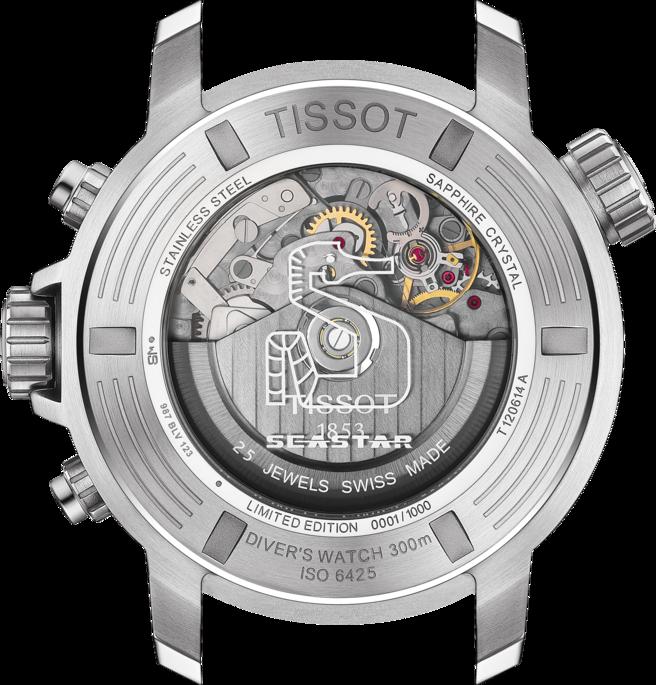 天梭表的Seastar 1000系列專業版計時碼表,搭載傳奇Valjoux 77...