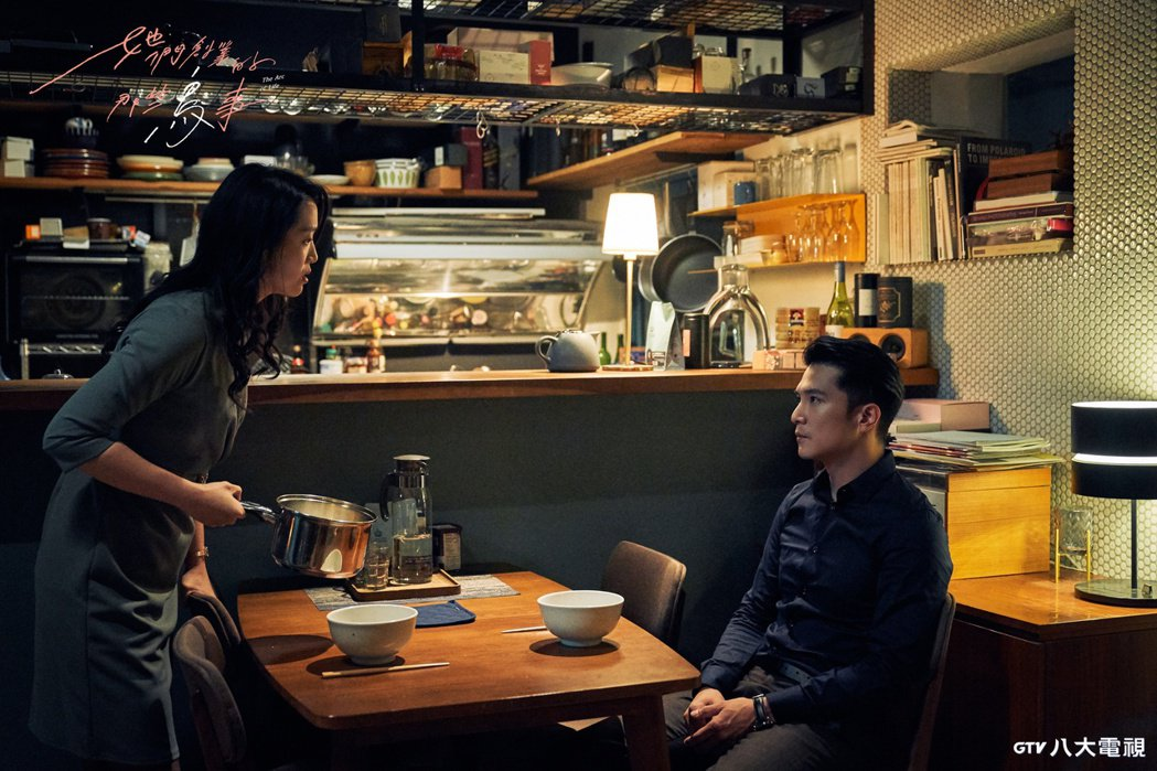 邱澤(右)與劇中女友的李元元,情侶關係一度陷入僵局。圖/八大電視提供
