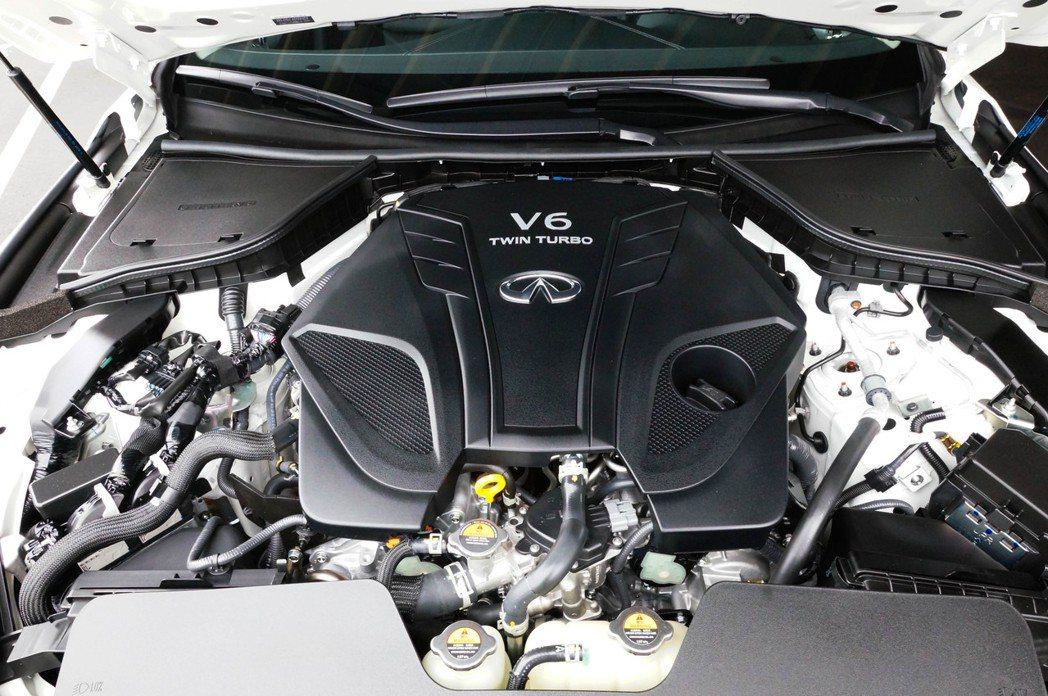 VR30DDTT引擎在Q50 300GT上擁有最大300hp/40.8kgm的動...