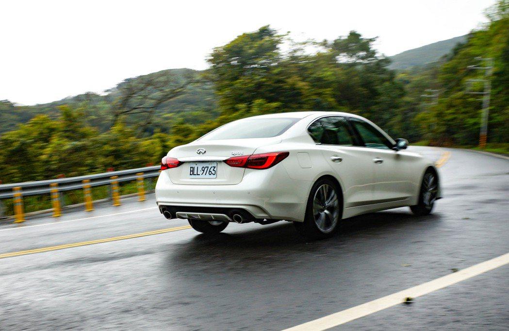 以這個價位的運動性能轎車來說,Q50 300GT絕對是無可挑剔。 記者趙駿宏/攝...