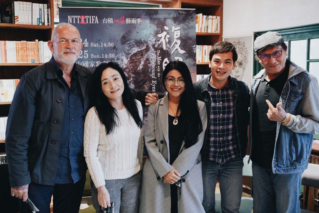(由左至右)導演盧卡斯.漢柏與演員徐堰鈴、阿洛.卡力亭.巴奇辣、蘇達、鴻狄、懷劭...