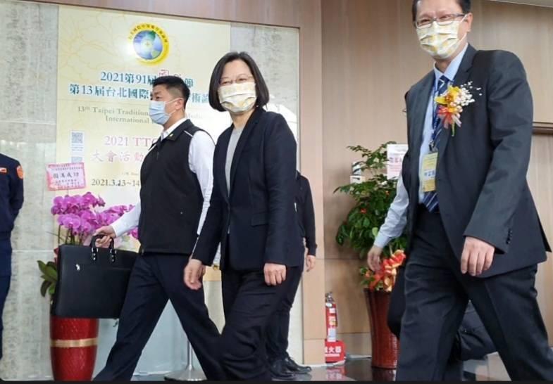 蔡英文總統出席中醫師公會全聯會今舉行的「第91屆國醫節」。記者楊雅棠/攝影