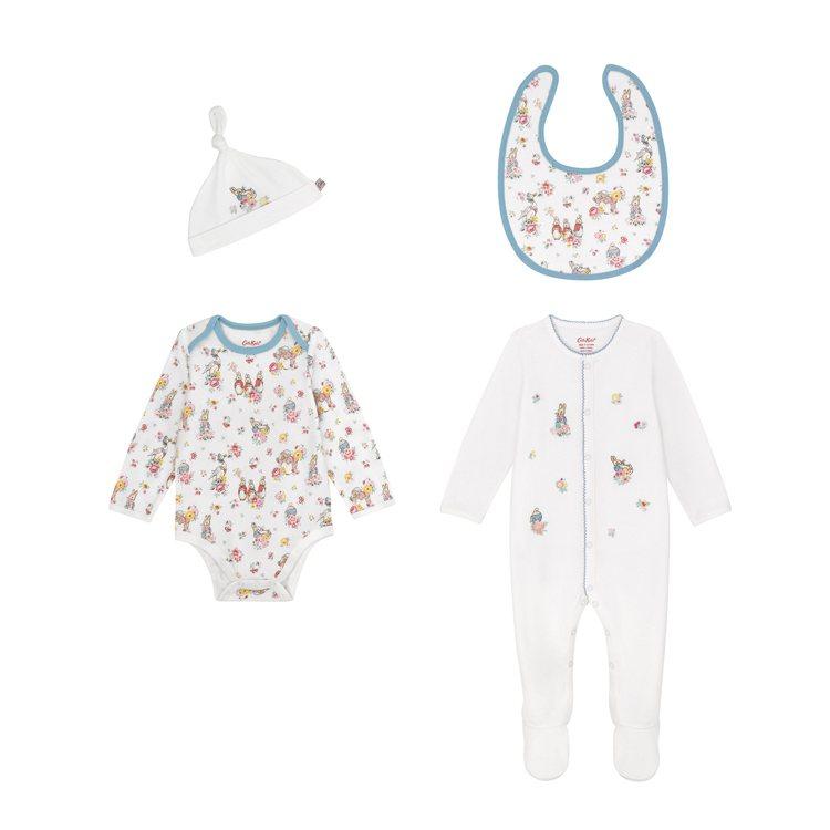 純棉嬰兒套裝4件組,2,880元。圖/Cath Kidston提供