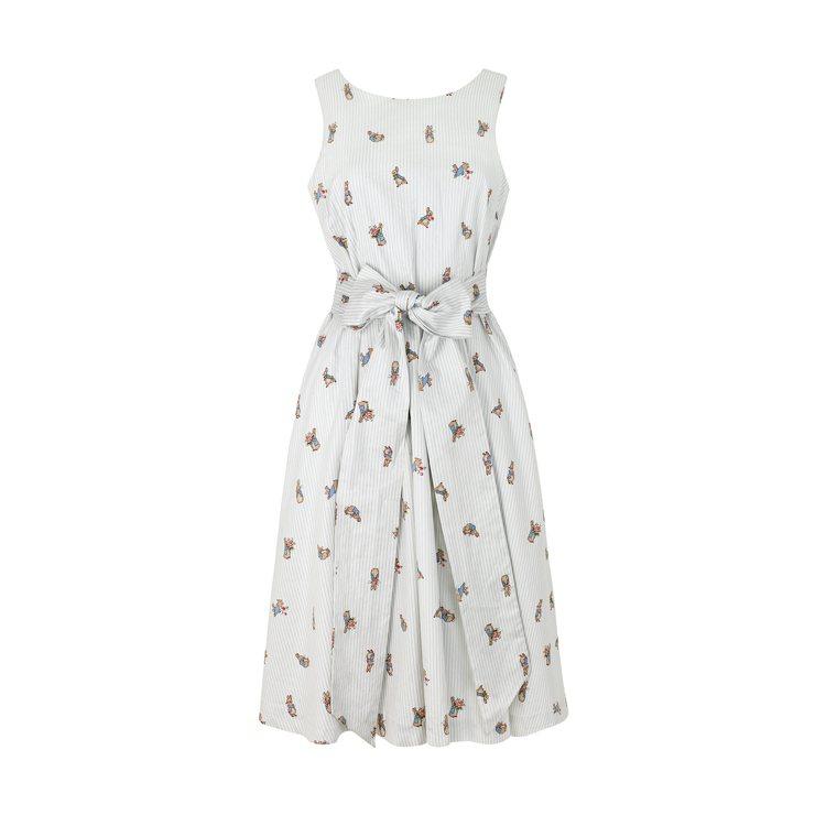 無袖綁帶細條紋洋裝,4,680元。圖/Cath Kidston提供