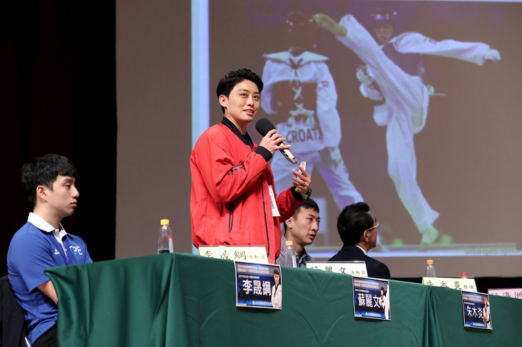 台灣跆拳道好手蘇麗文比賽時前十字韌帶受傷,今坦言「復健是一輩子的事」。記者余承翰...