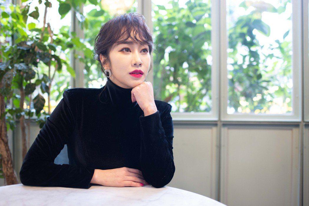 林佩瑤現在是幸福人妻。記者沈昱嘉/攝影