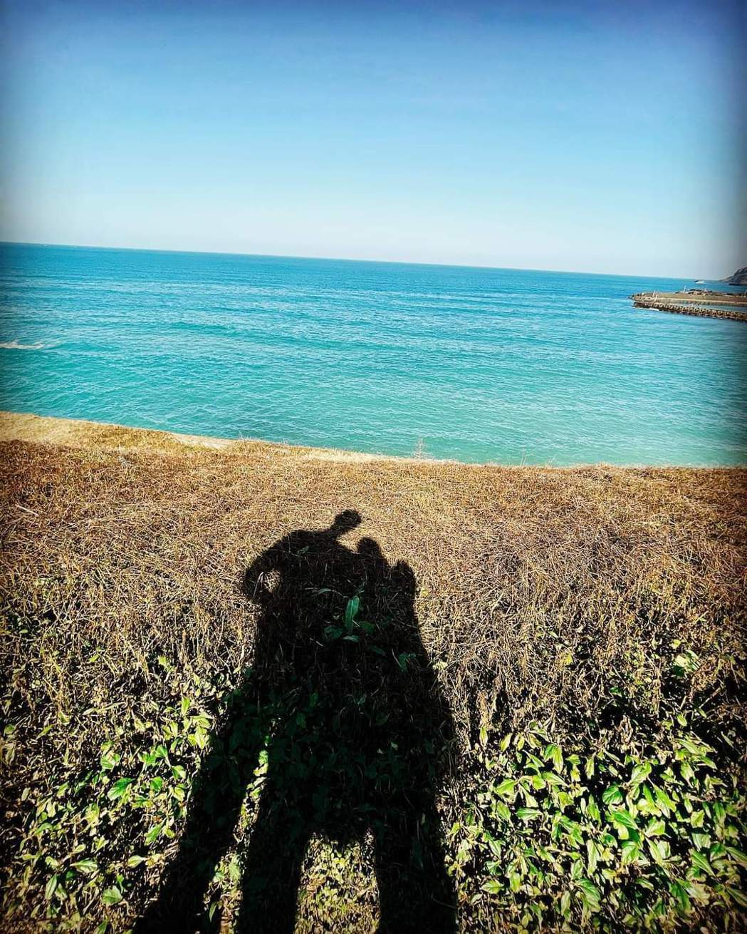 許維恩po出與王家梁的剪影照放閃。圖/摘自臉書