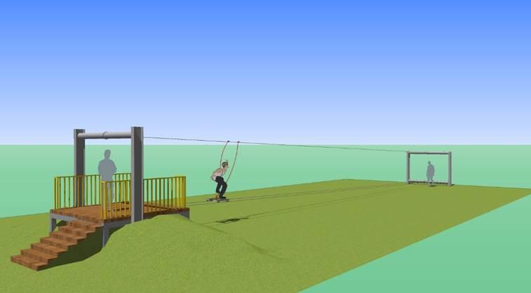 兒藝節遊具「空中滑板」模擬圖。圖/新竹市政府提供
