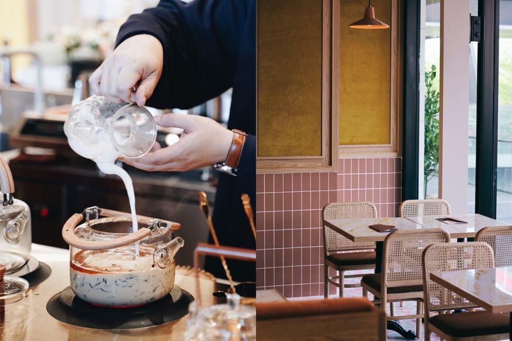 永心鳳茶全新奶茶專門所開幕,主打現場鍋煮奶茶。 圖/沈佩臻攝影、永心鳳茶提供