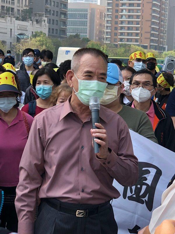 台中市家畜肉類商業同業公會理事長張國樑。 蔣佳璘/攝影