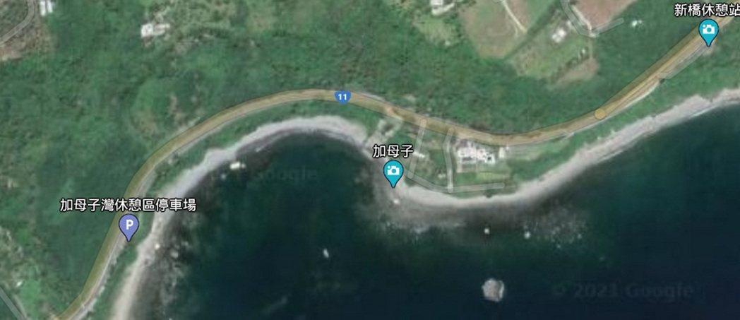 台東東海岸省道台11線147.5公里加母子灣段,北上南下呈現大S型的彎道,該路段...