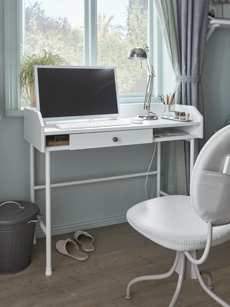HAUGA書桌/工作桌,售價2,190元。圖/IKEA提供