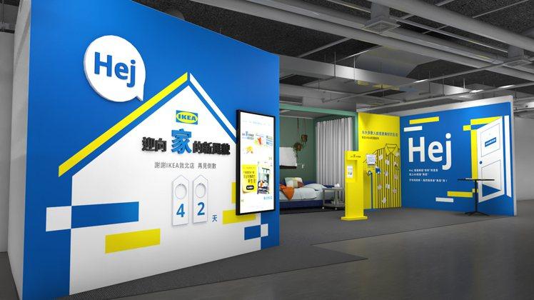 IKEA敦北店打造時光走廊,細數23年來的故事。圖/IKEA提供