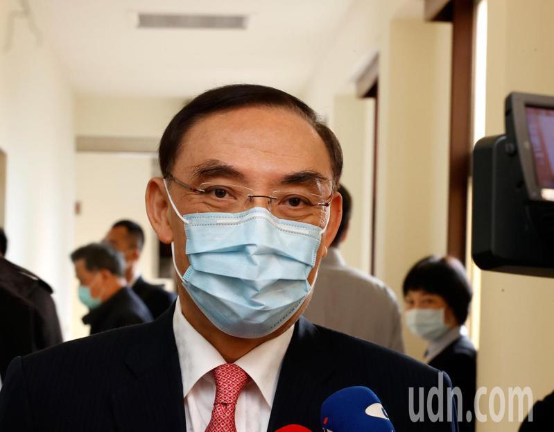 法務部長蔡清祥上午在立法院接受訪問表示,拉法葉軍艦弊案的佣金返還沒有生變,法律程序還未終結。記者鄭超文/攝影
