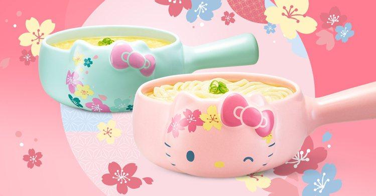 老協珍推出2款夢幻櫻花季「Hello Kitty造型牛奶鍋」,共有日櫻、櫻雨兩種...