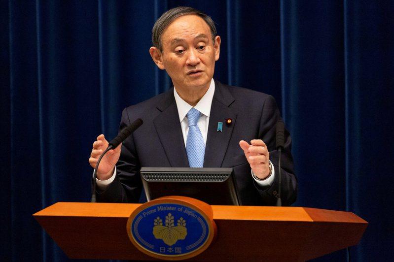 日本首相菅義偉。(路透)