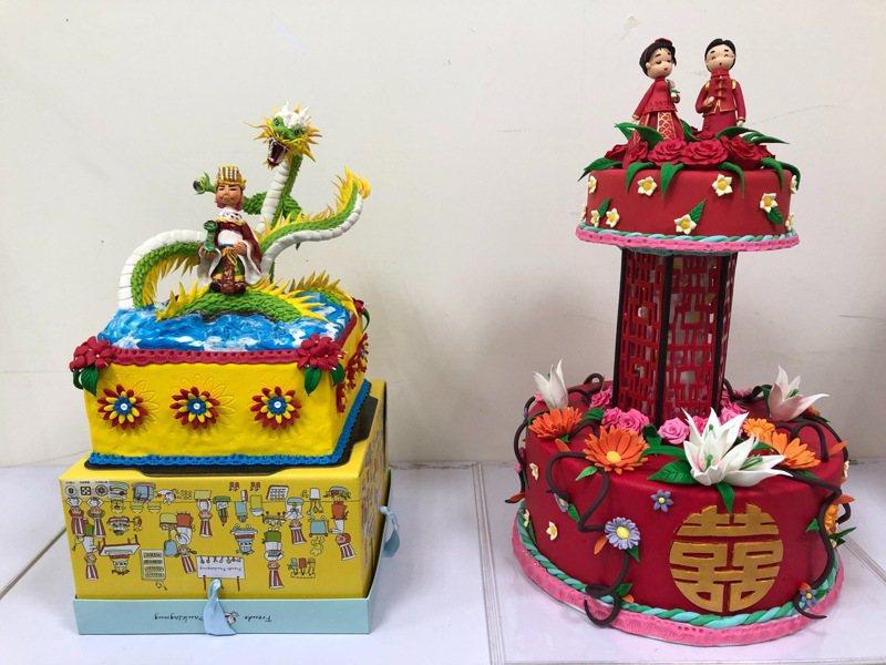 弘光科大學生以「媽祖」作品, 奪英國翻糖裝飾賽最高分。圖/弘光科大提供
