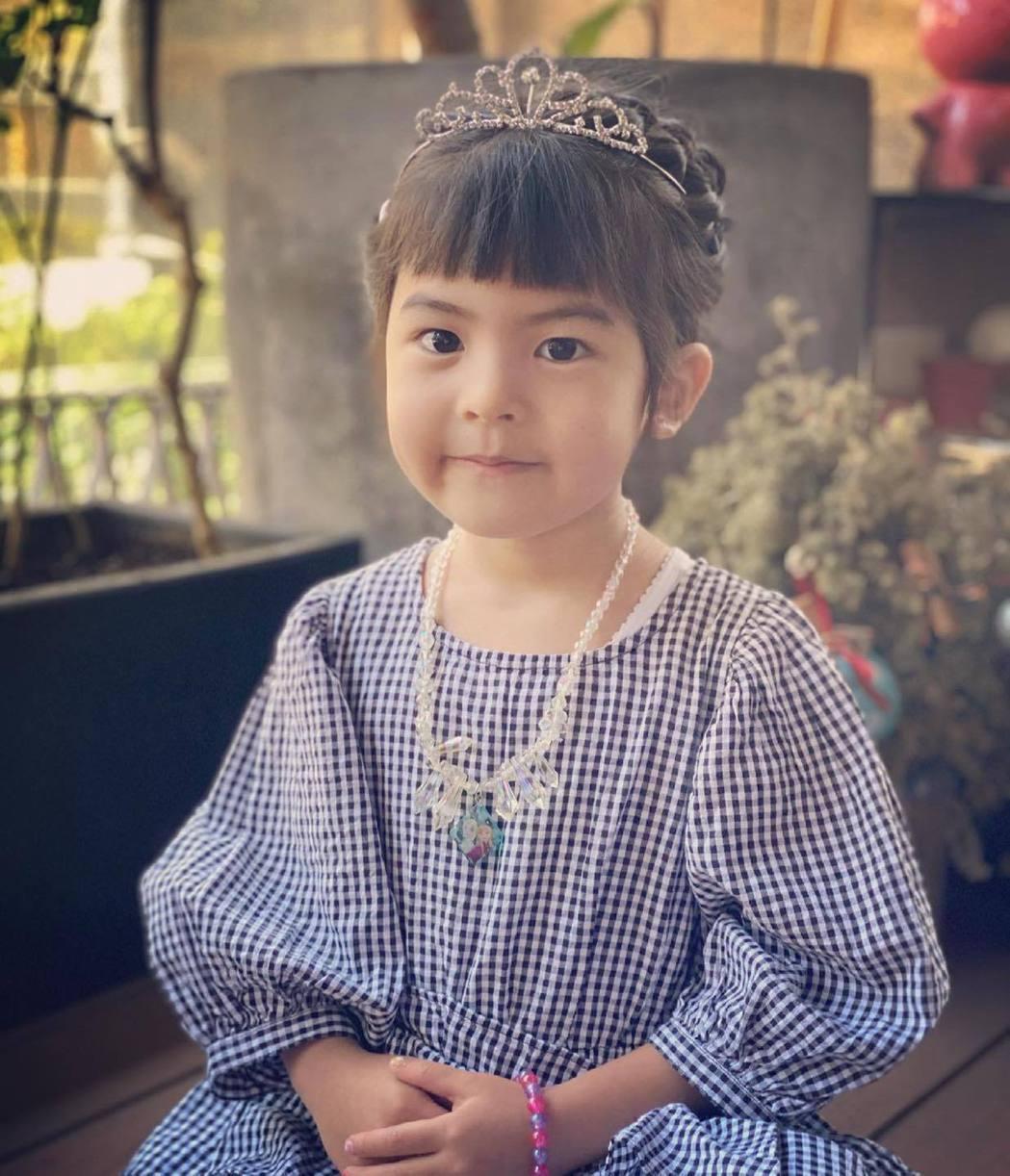 波妞過4歲生日扮成公主。圖/摘自臉書