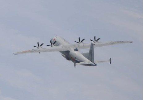 國防部發布最新共機動態,一架運八反潛機昨天下午侵犯我國西南防空識別區。圖/國防部