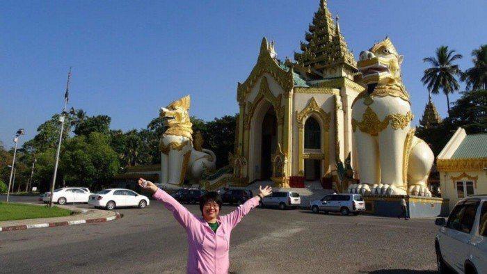 張雲清到緬甸參加仰光國際研討會。 圖/張雲清提供