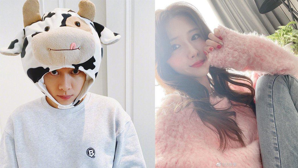 李易峰與方安娜。圖/擷自微博