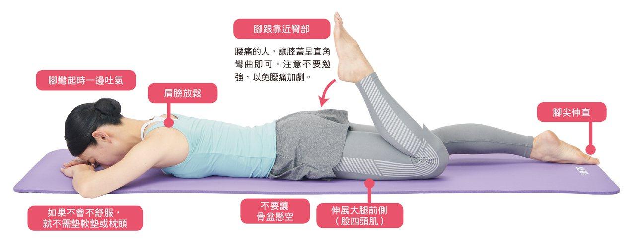 當我們將身體呈趴姿時,便能借助重力讓身體筆直伸展。 圖/蘋果屋出版社