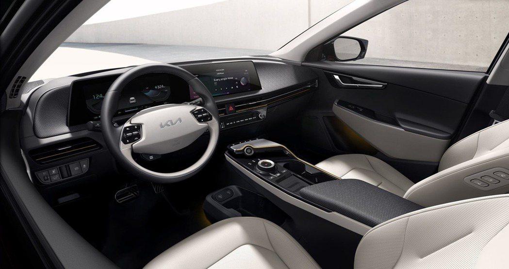 全新Kia EV6純電車車室。 摘自Kia