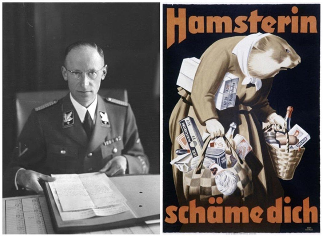 左為赫伯特巴克,納粹德國的食物與農業部長。當時由他主責納粹惡名昭彰的「飢餓計畫」...