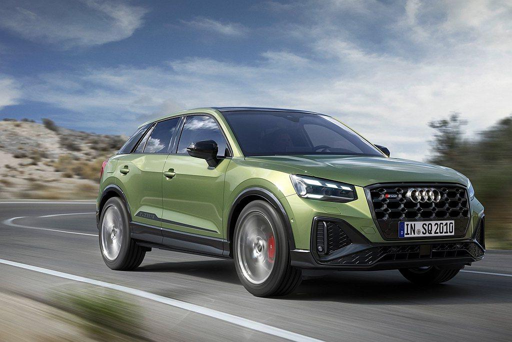 Audi SQ2亦同步上市,建議售價235萬元起。 圖/Audi提供