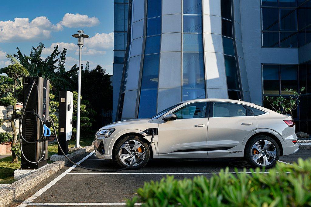 除原廠授權展示中心設有Audi極速充電站,今年台灣奧迪更計畫拓建4座Audi極速...