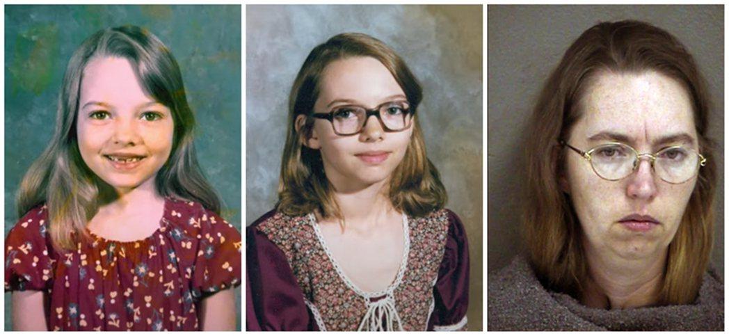 左為麗莎4歲,多次目睹姊姊遭到性侵;中為麗莎約11歲,開始遭到繼父與母親介紹的其...