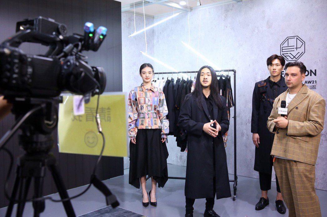 紡拓會規劃多場推廣直播協助品牌與國際買主溝通,如服裝品牌INF。 紡拓會/提供