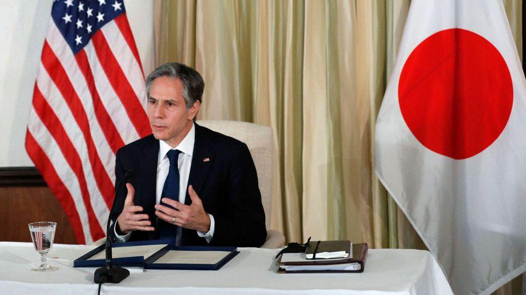 美國國務卿布林肯今(16)日呼籲,深化與日本的經濟與安全關係。 法新社