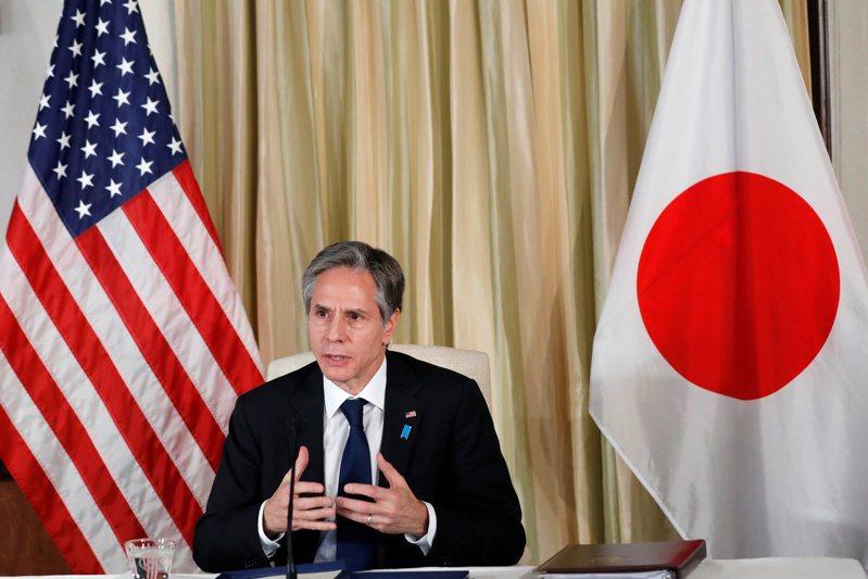 美國國務卿布林肯今天呼籲,深化與日本的經濟與安全關係。 路透社