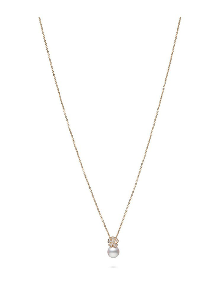 MIKIMOTO Cherry Blossom系列珍珠鑽石墜鍊,96,000元。...